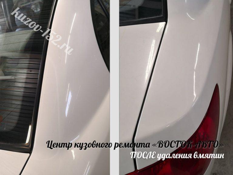 Удаление вмятин без покраски в Нижнем Новгороде