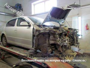 Восстановление геометрии кузова Опель Астра
