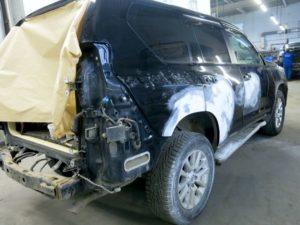 Кузовной ремонт и покраска Тойота Лэнд Крузер Прадо процесс ремонта