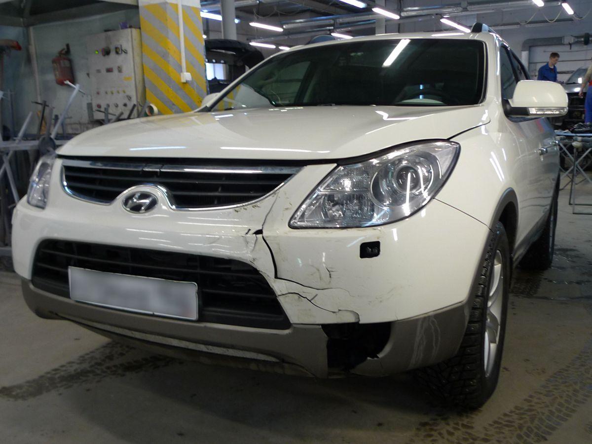 Замена бампера Hyundai ix55